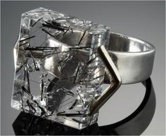 Margaret De Patta, Ring, 1946, sterling silver, tourmaline, quartz, 25 x 6 x 6 mm, Collection of the Oakland Museum of California, Gift of Eugene Bielawski, The Margaret De Patta Memorial Collection, photo: M Lee Fatherree