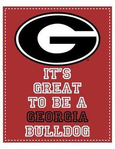 It's great to be a Georgia Bulldog:)!