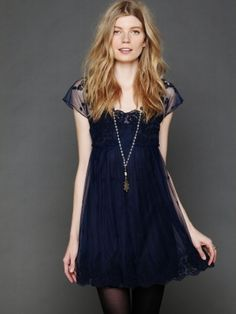 Free People Golden Slumbers Dress - Midnight L $148.0 by Free People
