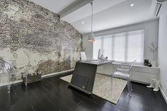 = black + concrete + brick   Office at Luisa Interior Design Showroom