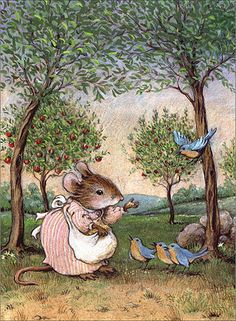 :: Sweet Illustrated Stroytime :: Illustration by Willy Petersen :: Bluebirds