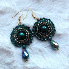 Šité náušnice, korálky, výšivka Drop Earrings, Jewelry, Fashion, Accessories, Moda, Bijoux, Drop Earring, Jewlery, Fasion