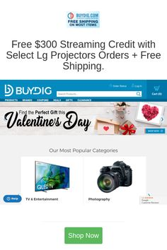 Best deals and coupons for BuyDig GPS Telephony Video Game Consoles Video Players Recorders Projectors Televisions Electronics Gift Wireless Security, Security Camera, Headphones For Tv, Photography Office, Blue Tooth, Smart School, Teeth Health, Alexa Echo, Bluetooth