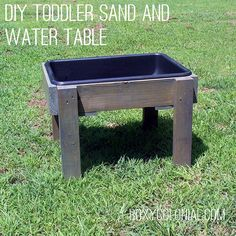 Make this DIY Toddler-sized Sand or Water Table