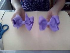 "This is a step by step tutorial video on how to make a basic boutique hair bow. If you have any requests or questions, feel free to ask.   http://myworld.ebay.com/angelbaby7sat    Also go be a fan and ""L"
