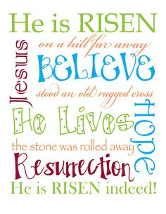 I like this- this is what Easter is all about- I want to make something like this for my house. Or I could even print a scripture on thin scrapbook paper...
