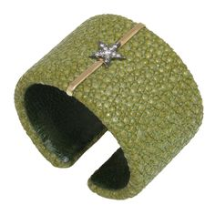 1stdibs - Olive Shagreen and Diamond Star Cuff explore items from 1,700  global dealers at 1stdibs.com