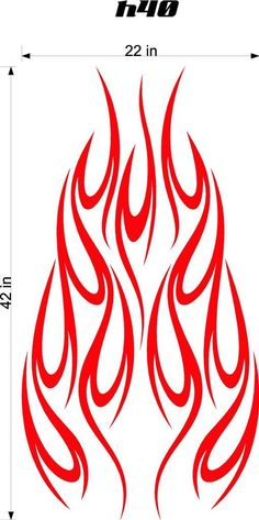 Auto Truck Car Hood Flames Stickers Graphics Decals HH40