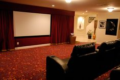 movie rooms with curtains   Decorations, Sophisticated Home Movie Theater Rooms for Inspirations ...