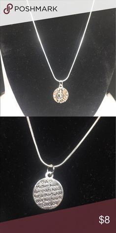 """Two Sided Mother Necklace #116  ⭕️ 18"""" Snakechain Necklace $6.00 ⭕️ 24"""" Snakechain Necklace $8.00  (Select the option you'd like and send me an offer with the correct amount shown)  ✔️More than one available of each  ✔️ Hypoallergenic Necklaces DOES NOT green or Irritate even the most sensitive skin. ✔️Lead and Nickel FREE ❤Thanks for stopping by❤ Khloe Bear Designs Jewelry Necklaces"""