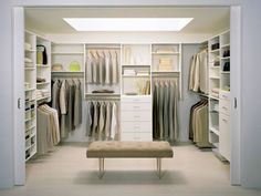 Have the room? Organize a well made closet.