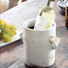 Ceramic Wine Chiller --Wondering if I can make this box shaped for Van De Maele Bohannon ? Pottery Tools, Pottery Classes, Ceramic Pottery, Ceramic Art, Slab Pottery, Ceramic Bowls, Wine Chillers, Pottery Studio, Glazed Ceramic