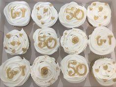 50th Wedding Anniversary Cupcakes