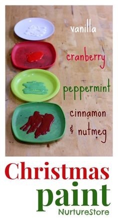 How to make homemade Christmas scented paint | Great for kids Christmas crafts and Christmas sensory play.