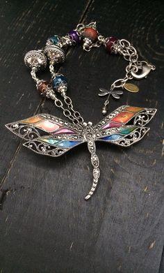 Vintage Marcasite Look Dragonfly Necklace by KarenTylerDesigns, $42.99