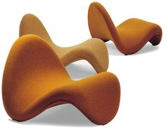 pierre paulin tongue chair