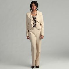 product three piece pant suit with sleeve print jacket