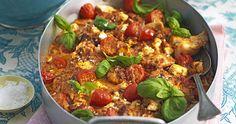 Snabb kycklinggratäng med fetaost recept