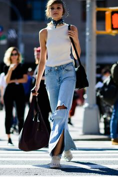 Julia Belyakova - The Best Street Style at New York Fashion Week #SS17 #NYFW September 2016