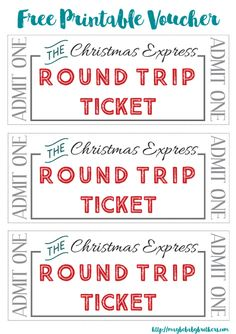 The Christmas Lights Express: Free Printable 'Tickets' For the Kids! - Maybe Baby Brothers