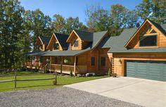Fairmont model log home