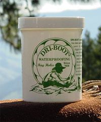 For those looking for the best natural waterproofing for boots and shoes, briefcases and binocular cases and all those other leather items they might take out and about in the English weather. Dri-Boot offers an all natural waxbased moisture shield that won't change the stucture of the leather while helping keep items in top form for years.