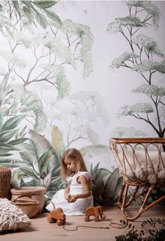 Add a beautiful touch of nature Forest walpaper The post Kids wallpaper appeared first on Woman Casual - Kids and parenting Kids room nursery ideas for kids diy crafts lovelane designs imaginative playwear handmade kids costumes gifts guide Kids Room Wallpaper, Nature Wallpaper, Photo Wallpaper, Forest Wallpaper, Beautiful Wallpaper, Wallpaper Childrens Room, Wallpaper Jungle, Bedroom Wallpaper, Print Wallpaper