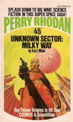 GRAY MORROW - art for Unknown Sector: Milky Way (Perry Rhodan #45) by Karl Mahr - 1974 Ace Books