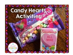 Candy Heart Candy Activities by Sweet Integrations; graphing, sorting, games