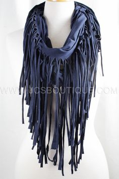 Fringe scarves $29 at www.jcsboutique.com