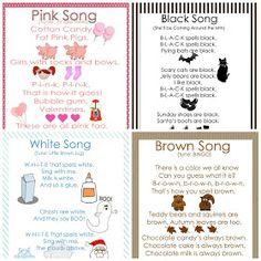 My Little Gems: Preschool Color Songs-Free Printables {Part 2}