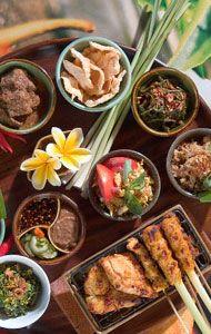 indonesian food. sayur urap bali. balinese vegetable salad with