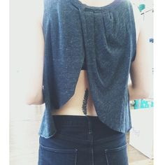 Neat idea for a top to show your back tattoos. www.selfiesnation.com #freepeople #tattoo #style