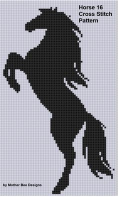 Cross Stitch Design Looking for your next project? You're going to love Horse 16 Cross Stitch Pattern by designer Motherbeedesigns. Cross Stitch Horse, Cross Stitch Animals, Cross Stitch Charts, Cross Stitch Designs, Cross Stitch Patterns, Cross Stitching, Cross Stitch Embroidery, Embroidery Patterns, Cross Stitch Silhouette