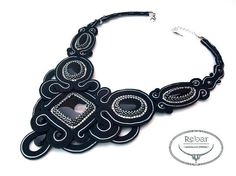 Soutache Necklace Yennefer by RebarJewelry on Etsy