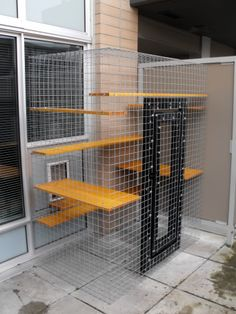 A patio cat enclosure in a high rise condo Beautiful World Living Environments www.abeautifulwor...