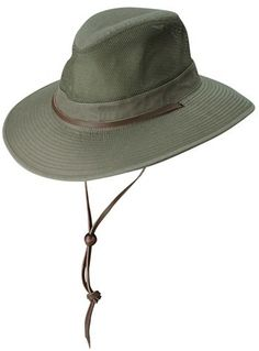 Men s Dorfman Pacific Brushed Twill Safari Hat - Green Safari Outfits 5252c4733ff6