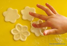 spring flower craft salt dough fingerprint {meaningful mama}