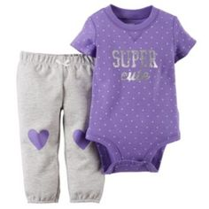 Carter's Baby Girls' Super Cute Bodysuit & Pants Set Carter's Baby Girls' Super Cute Bodysuit & Pants Set - Cute Adorable Baby Outfits Baby Girl Pants, Cute Baby Girl, Baby Love, Cute Babies, Girls Pants, Carters Baby Clothes, Cute Baby Clothes, Carters Baby Girls, Babies Clothes