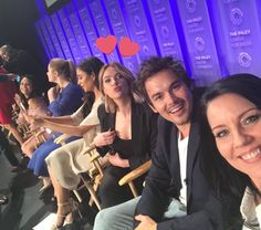 "Ashley Benson, Tyler Blackburn, Andrea Parker, Shay Mitchell, Sasha Pieterse and Janel Parrish. PLL cast at PaleyFest, ""Pretty Little Liars"""