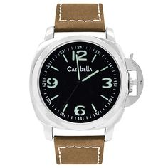 Men's silver watch with brown straps Buy directly from me Nicolene 071 329 1543 or from the online shop www.cazabella.co.za/4000 Courier Cost R60