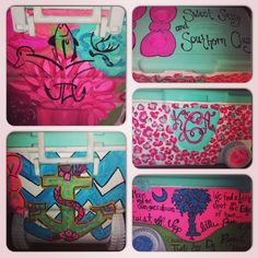 Custom painted cooler by kelsey Cagle