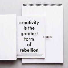 Let's rebel.