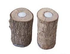 kandelaar van boomstam