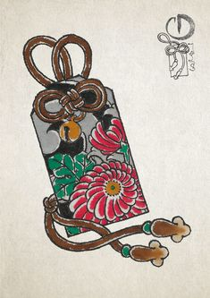 Papel de arroz, acuarela y rotulador Japanese Tattoo Symbols, Japanese Tattoo Art, Japanese Art, Anime Tattoos, Body Art Tattoos, Neo Tattoo, Yakuza Tattoo, Crisantemo Tattoo, Charm Tattoo