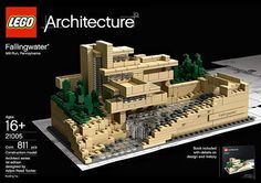 LEGO Fallingwater. #architecture #modern #design @Courtney LaLa + form
