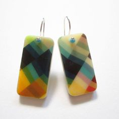 A personal favorite from my Etsy shop https://www.etsy.com/listing/236728261/color-patterns-domino-earrings-domino