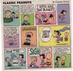 Linus' blanket gets washed