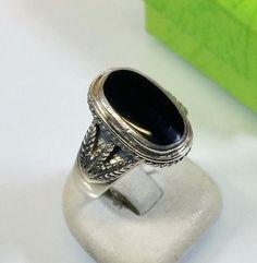 177 mm Nostalgischer Ring Silber 925 Onyx SR315 von Schmuckbaron