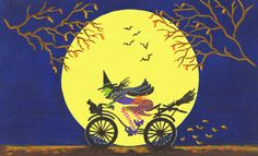 "Halloween Art Print Titled"" Broken Broom "" by Christine Altmann $12.99"
